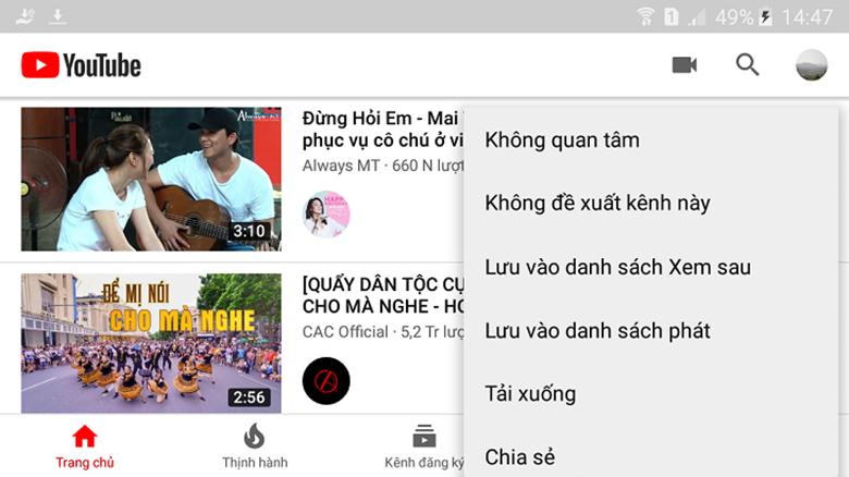 cách tải video từ youtube về điện thoại Oppo bằng YouTube Premium