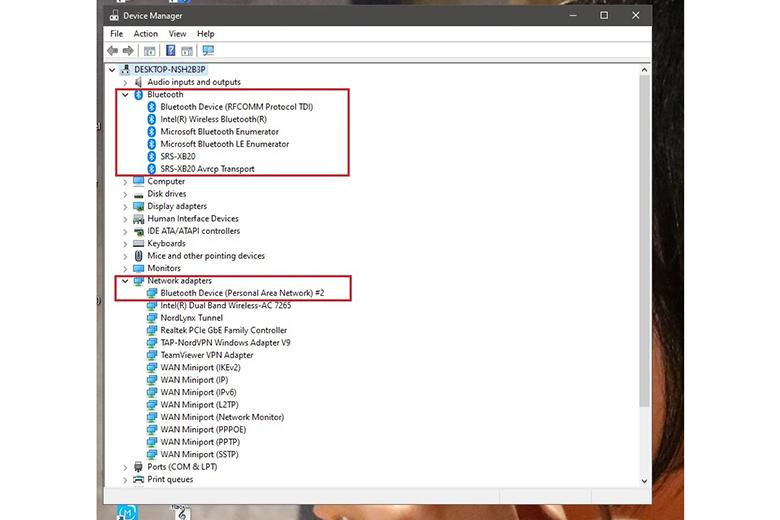 Cách kiểm tra laptop có bluetooth hay không bước 2