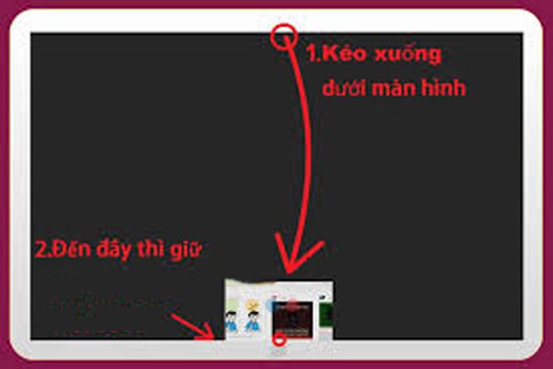 Cách tắt ứng dụng chạy ngầm trên laptop win 8: Kéo từ trên xuống