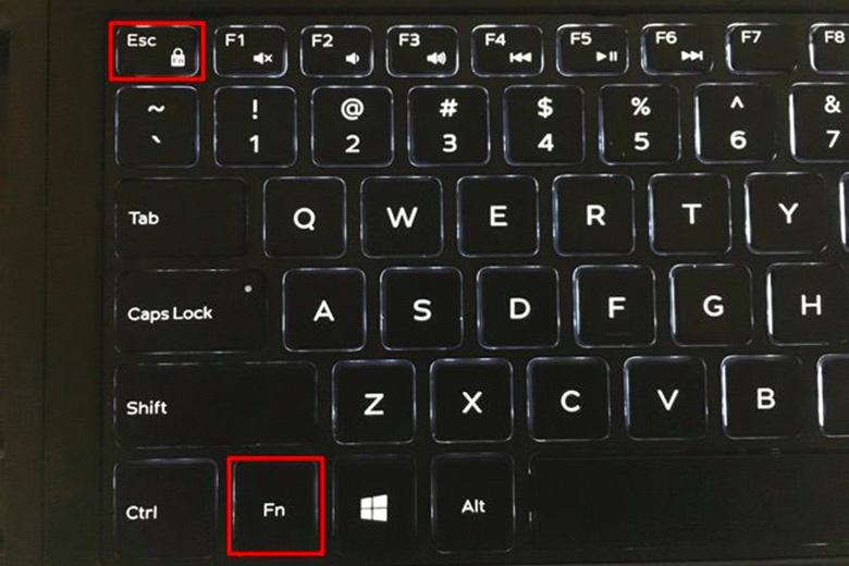 Cách tắt phím Fn trên laptop Dell win 10 bằng chức năng khóa phím Fn trên bàn phím