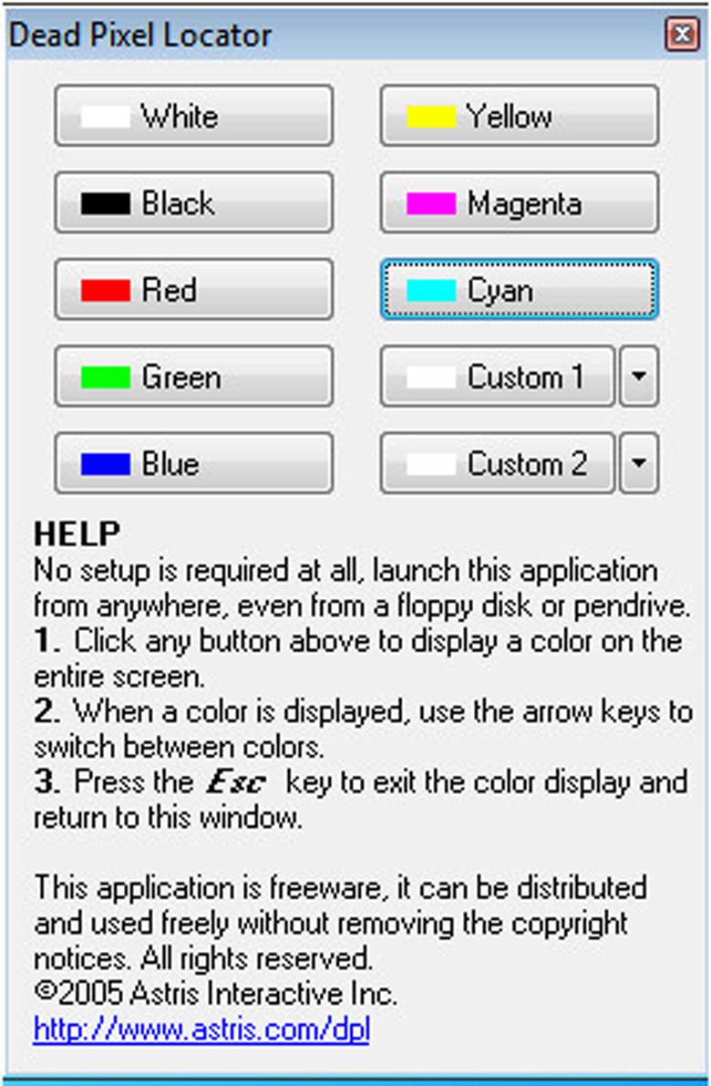 Phần mềm Dead Pixel Locator cách test laptop mới vô cùng chuẩn bắt buộc phải mở chúng lên
