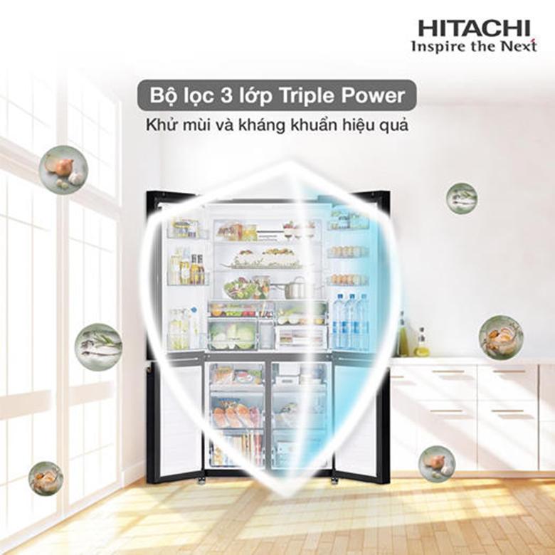 Tủ lạnh Hitachi Inverter 569 lít R-WB640VGV0(GBK) kháng khuẩn
