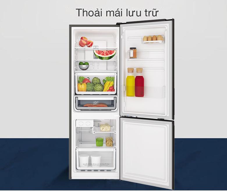 Tủ lạnh Electrolux Inverter 253 lít EBB2802K-H hộp đá xoay