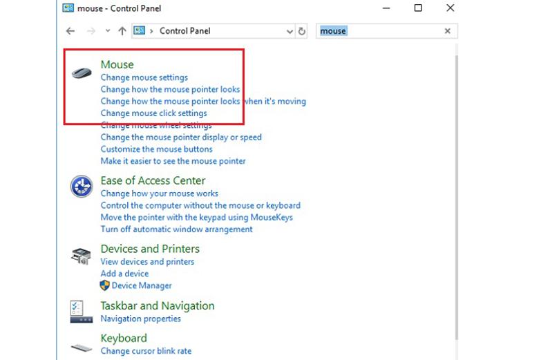 Cách tắt chuột cảm ứng trên laptop Asus trong Control Panel