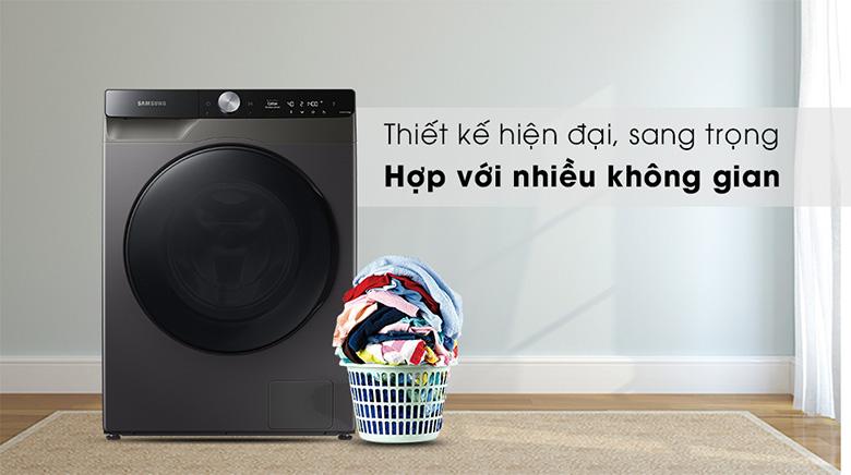 Thiết kế-Máy giặt sấy Samsung AI Inverter 11 kg WD11T734DBX/SV lồng ngang