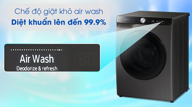 Công nghệ Air Wash-Máy giặt sấy Samsung AI Inverter 11 kg WD11T734DBX/SV lồng ngang