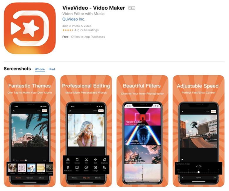Phần mềm VivaVideo cách làm video ảnh ghép nhạc trên điện thoại