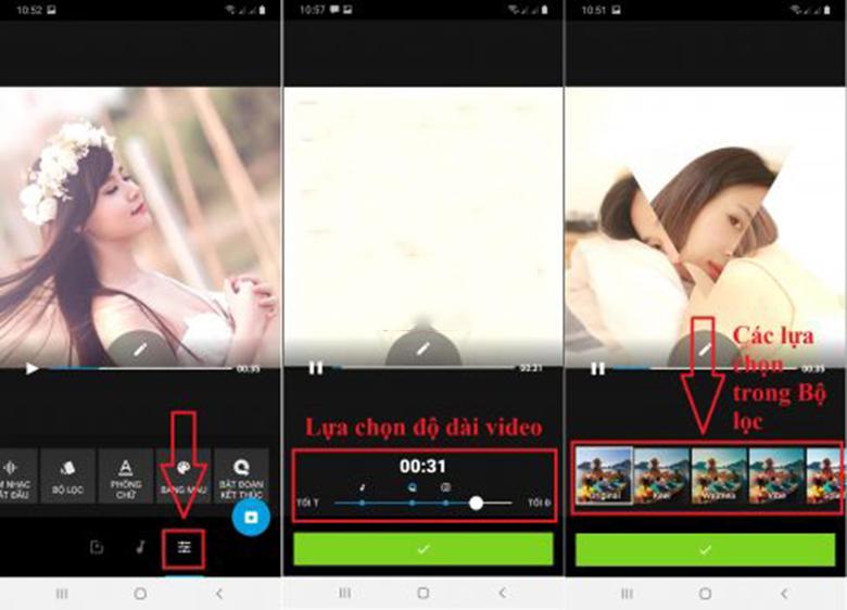 Phần mềm Quik cách chèn nhạc vào video trên điện thoại lựa chọn độ dài video