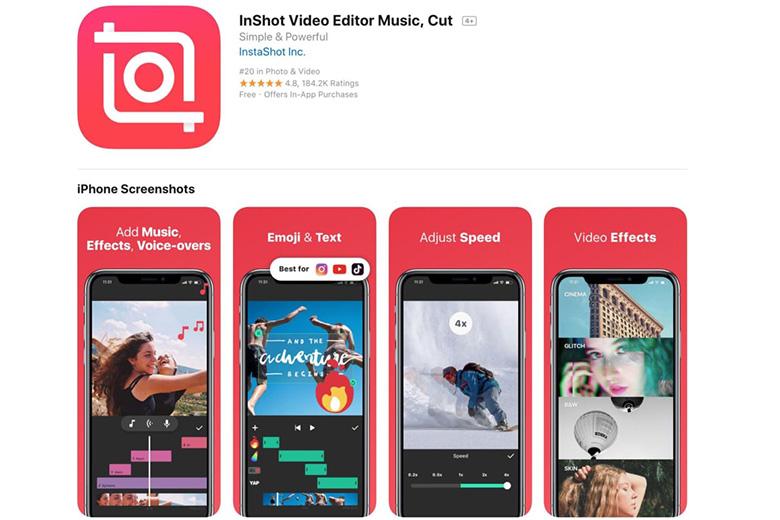 Cách chèn ảnh vào video trên điện thoại với ứng dụng Inshot