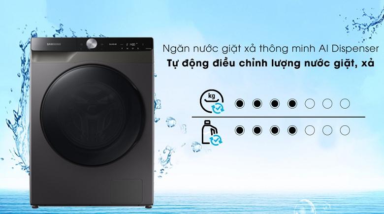 Công nghệ AI Dispenser-Máy giặt sấy Samsung AI Inverter 14 kg WD14TP44DSB/SV lồng ngang