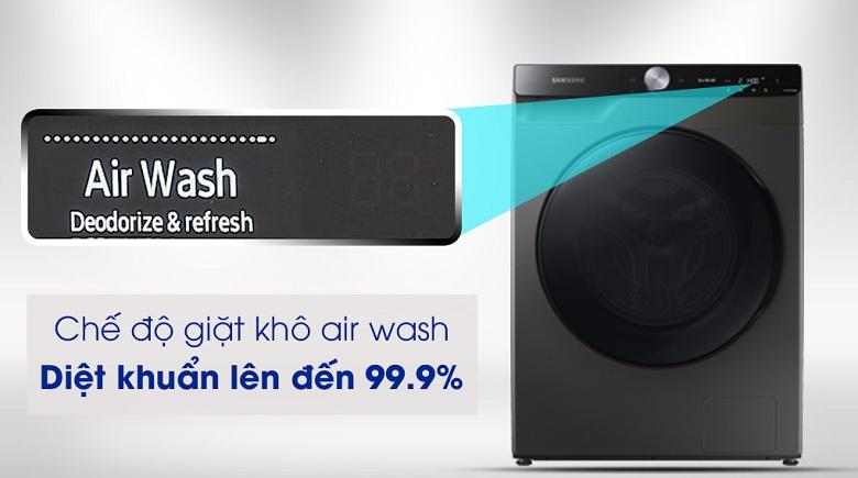 Công nghệ Air Wash-Máy giặt sấy Samsung AI Inverter 14 kg WD14TP44DSB/SV lồng ngang