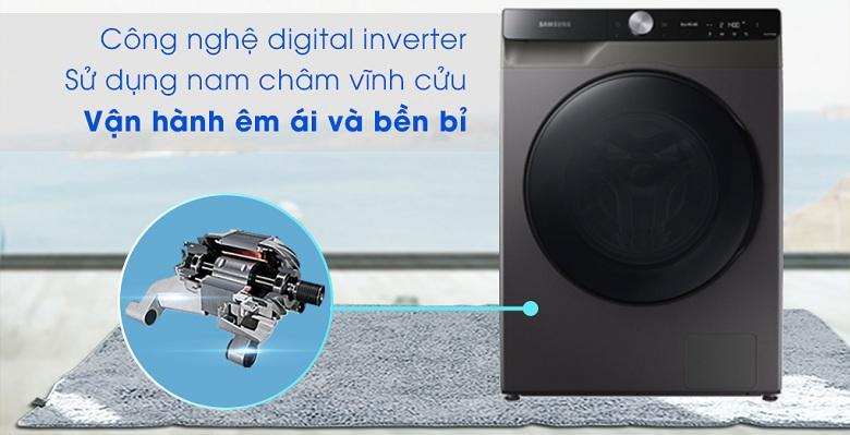 Công nghệ Digital Inverter-Máy giặt sấy Samsung AI Inverter 14 kg WD14TP44DSB/SV lồng ngang