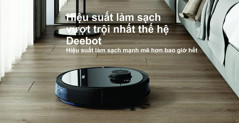 Robot hút bụi Ecovacs Deebot OZMO 950 hiệu suất mạnh mẽ