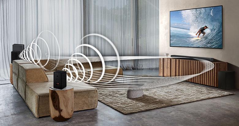 Âm thanh đa chiều - Loa Soundbar Samsung HW-Q600A/XV