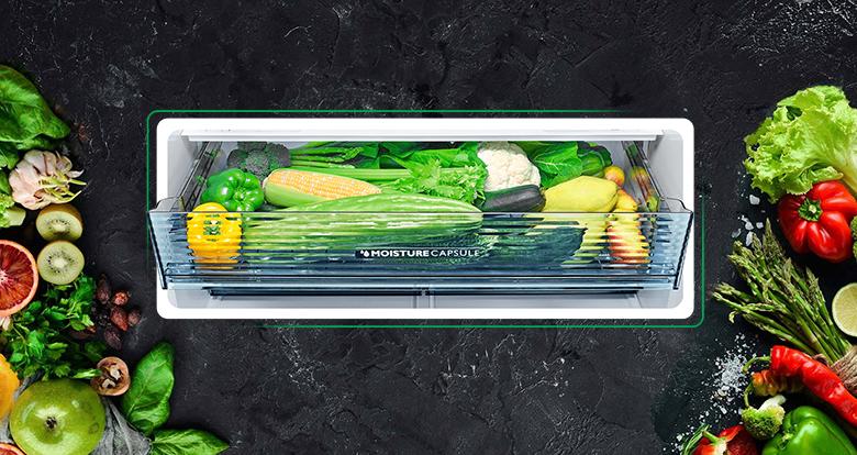 Tủ lạnh Sharp Inverter 520 lít SJ-FXP600VG-BK ngăn rau quả giữ ẩm