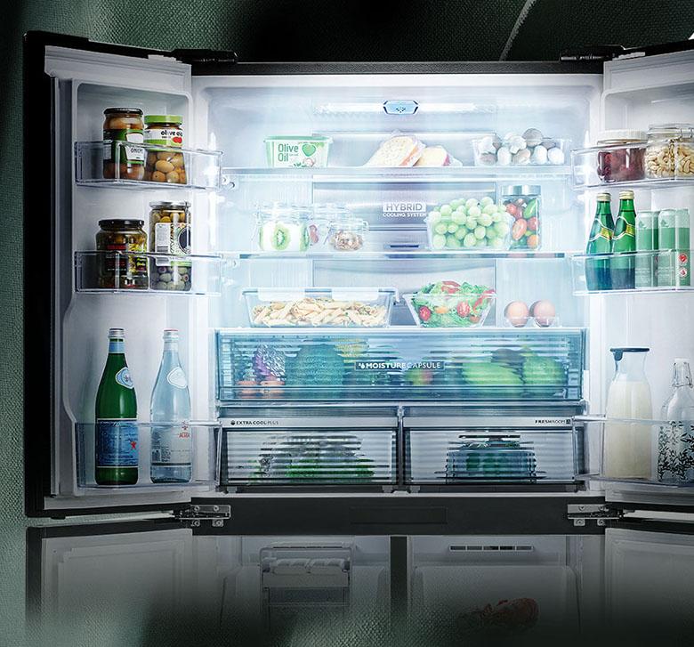 Tủ lạnh Sharp Inverter 520 lít SJ-FXP600VG-BK kháng khuẩn plasmacluster ion