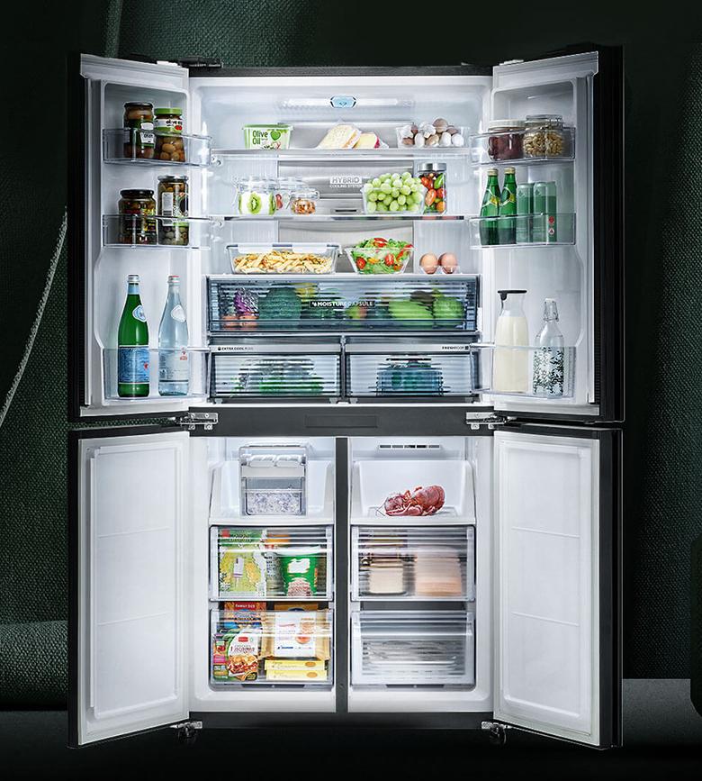 Tủ lạnh Sharp Inverter 520 lít SJ-FXP600VG-BK 4 cánh