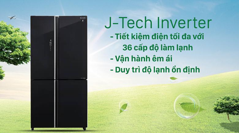 Tủ lạnh Sharp Inverter 520 lít SJ-FXP600VG-BK tiết kiệm điện