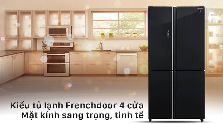 Tủ lạnh Sharp Inverter 520 lít SJ-FXP600VG-BK