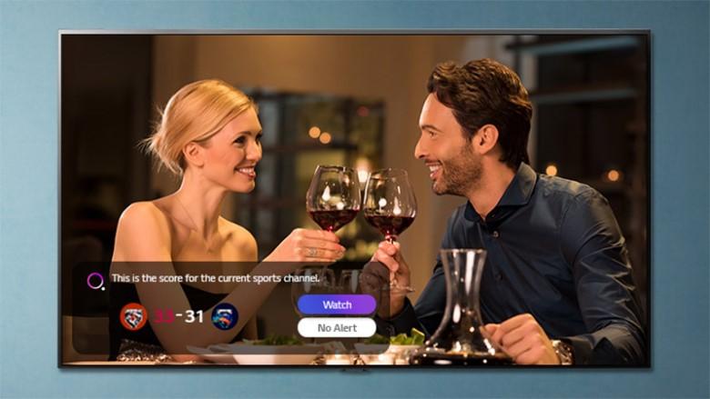 Thông báo thể thao - Smart Tivi LG NanoCell 4K 55 inch 55NANO80TPA