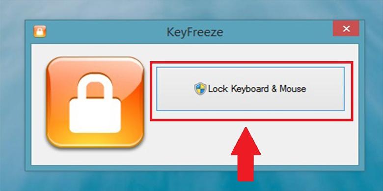 Cách tắt bàn phím laptop bằng phần mềm KeyFreeze