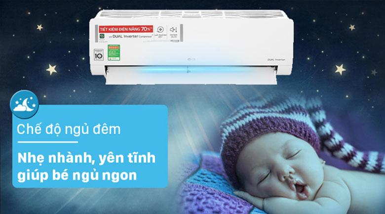 Lựa chọn điều hòa có chế độ ngủ hoặc gió thổi dễ chịu