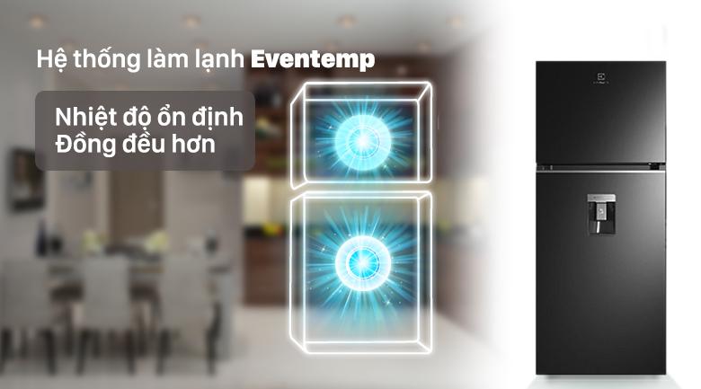 Tủ lạnh Electrolux Inverter 341 lít ETB3760K-H công nghệ làm lạnh eventemp