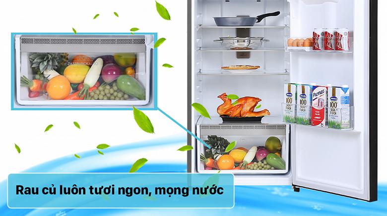 Tủ lạnh Electrolux Inverter 341 lít ETB3760K-H ngăn rau giữ ẩm