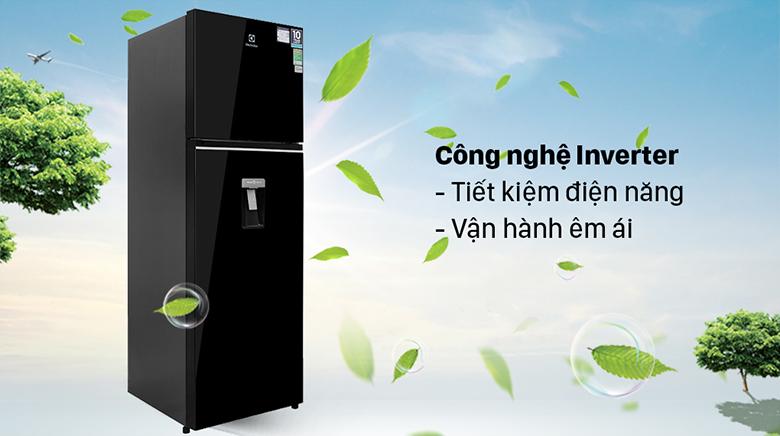 Tủ lạnh Electrolux Inverter 341 lít ETB3760K-H tiết kiệm điện