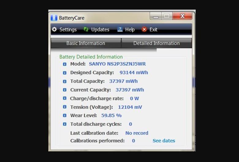 Sử dụng phần mềm BatteryCare cách kiểm tra độ chai pin laptop