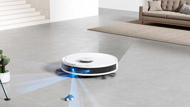 Robot hút bụi lau nhà Ecovacs Deebot N8 Pro có công nghệ truedetect 3d