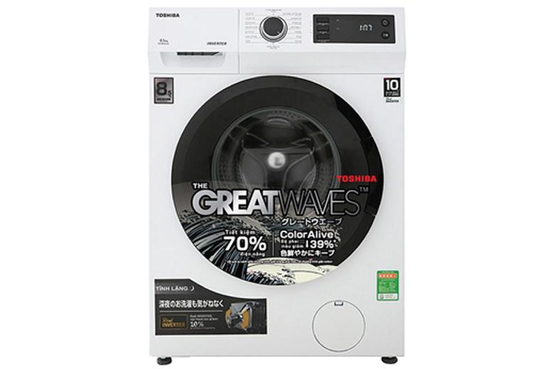 Thiết kế -Máy giặt Toshiba Inverter 8.5 kg TW-BK95S2V(WK) lồng ngang