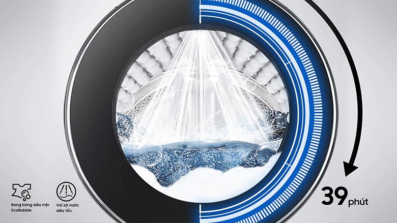 Chế độ QuickDrive-Máy giặt Samsung AI Inverter 10 Kg WW10TP54DSH/SV lồng ngang