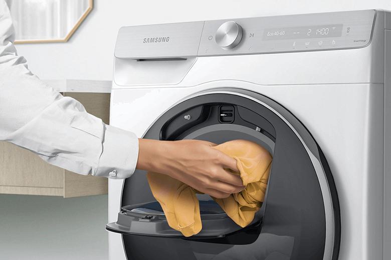 Cửa giặt phụ Add Wash™-Máy giặt Samsung AI Inverter 10 Kg WW10TP54DSH/SV lồng ngang