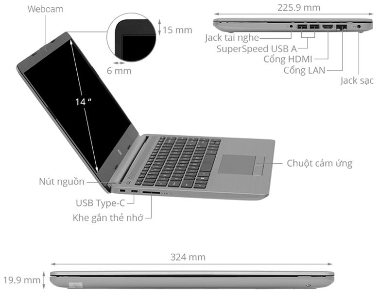 Laptop HP 340S G7 36A35PA